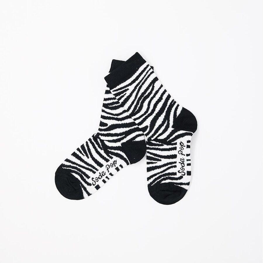 Soda pop kojinės mono zebra kids