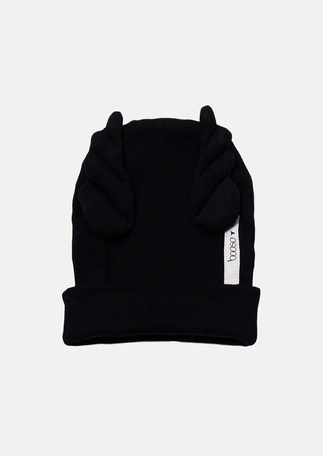 Booso wings kepurė juoda dviguba
