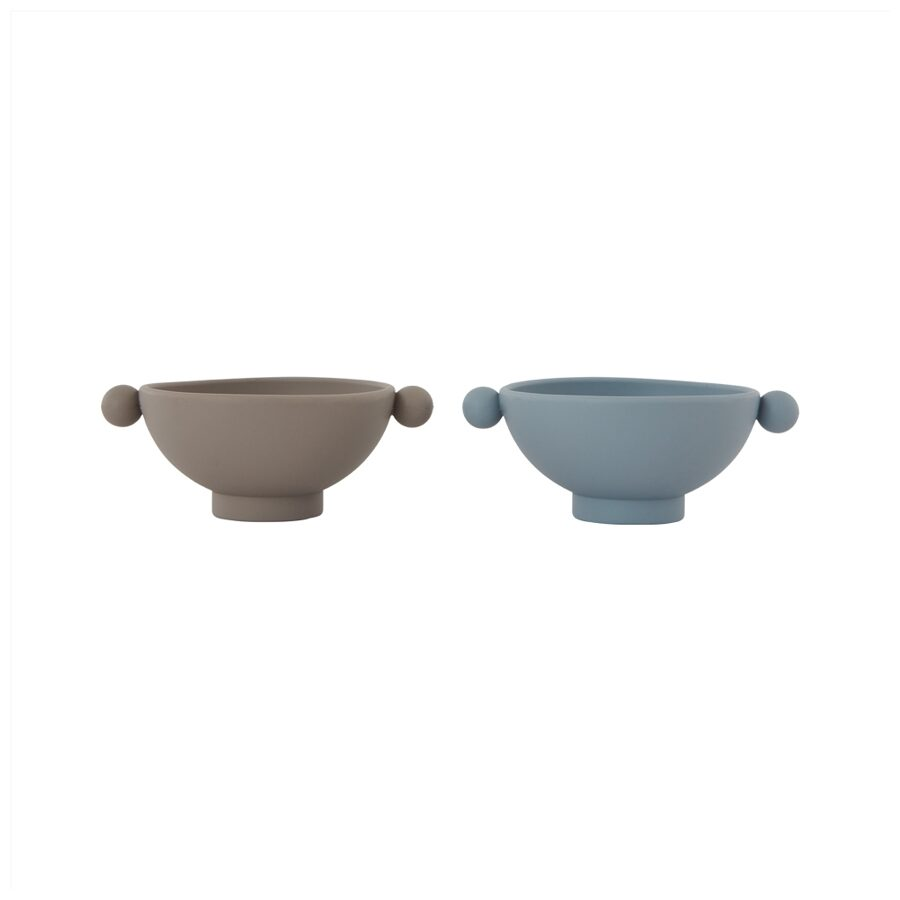 Silikoniniai indeliai INKA DUSTY BLUE & CLAY, SET OF 2