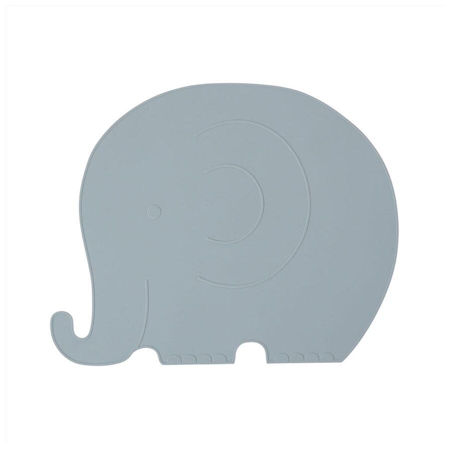 Silikoninis padėkliukas ELEPHANT HENRY BLUE