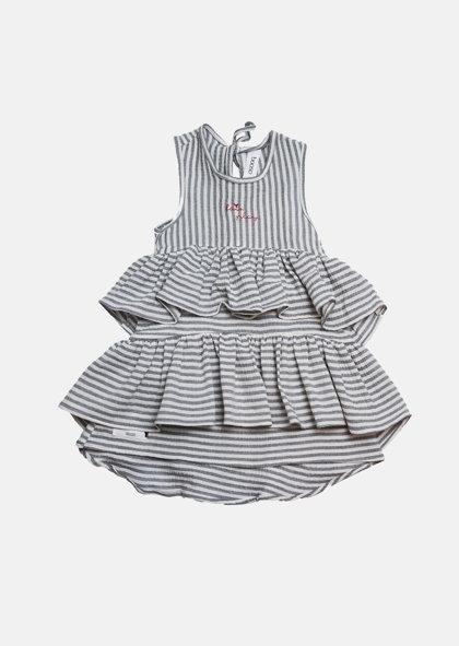 Booso suknelė wave dress ecru/gray