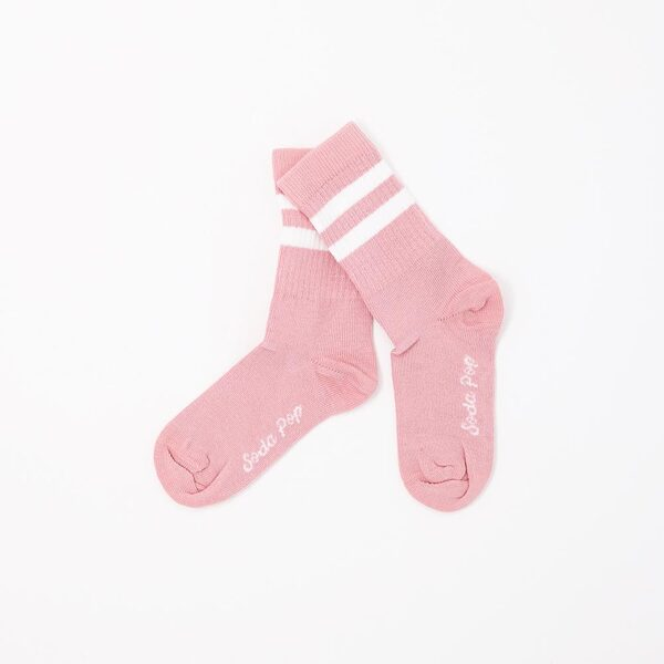 Soda pop kojinės dusty pink vintage kids