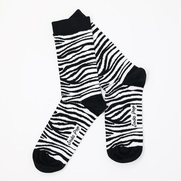 Soda Pop kojinės mono zebra