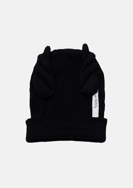 Dviguba Booso wings kepurė juoda