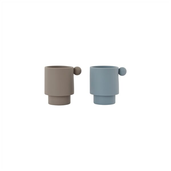 Silikoniniai puodeliai INKA DUSTY BLUE & CLAY, PACK OF 2