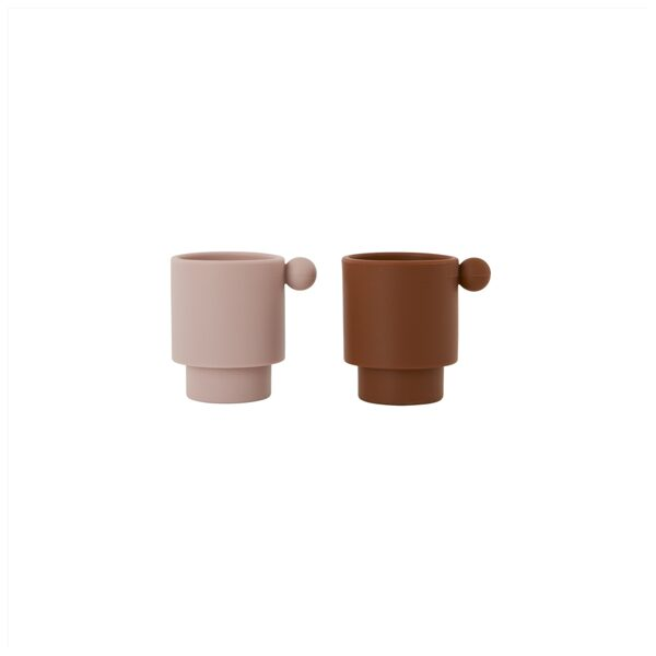 Silikoniniai puodeliai INKA CARAMEL & ROSE, PACK OF 2